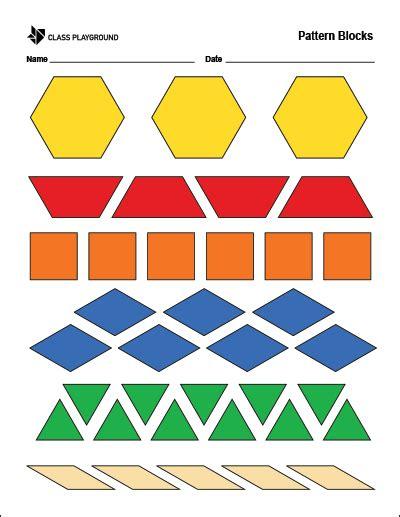 printable pattern blocks pattern blocks printable
