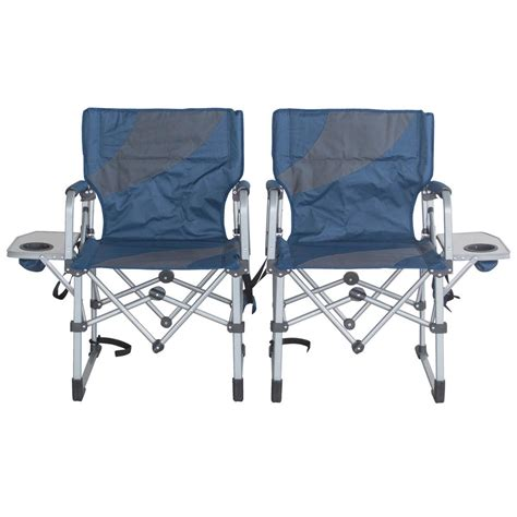 Lawn Chair With Table by Sportsman Folding Cing Chairs With Side Table Set Of 2
