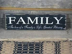 Family Life39s Greatest Blessing Wood Sign Primitive