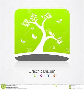 Graphic Design Business Logo Tree Sign Stock Vector ...