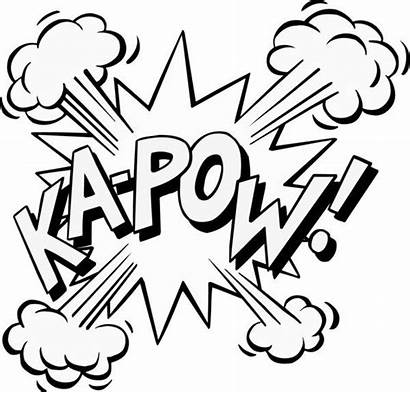 Pow Superhero Clipart Words Clip Zap Super