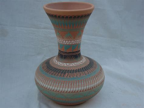 vase brands handmade navajo pottery vase 9 5 quot t signed by by j