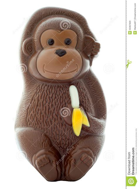 chocolate monkey stock photo image  cute candy brown