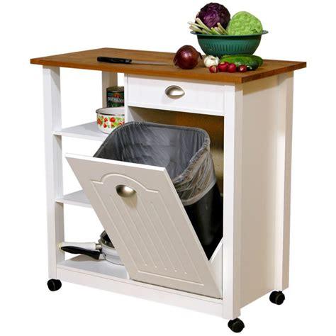 diy portable kitchen island kitchen island with trash bin chef wooden bins for with