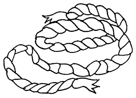 Coloring Ropes by Rope Coloring Page Sketch Coloring Page