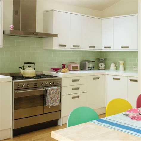 Yellow And Green Kitchens, Retro Floor Tile Retro Green