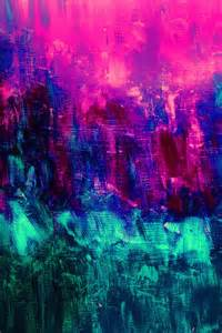 Neon Color Abstract Paintings