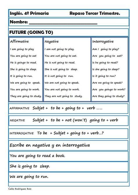 Fichas inglés cuarto primaria Niños de 9 10 años