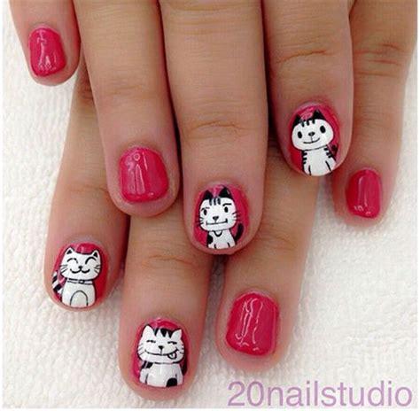 cat nail designs easy cat nail designs ideas 2014 2015