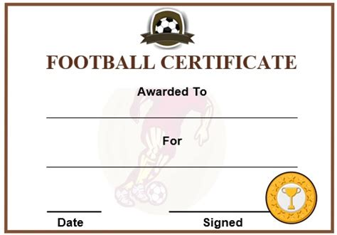 Football Certificate Templates by 30 Free Printable Football Certificate Templates Awesome
