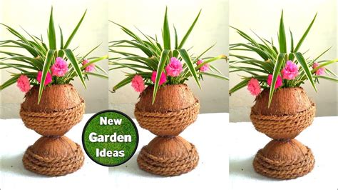 beautiful coconut shell pot coconut shell