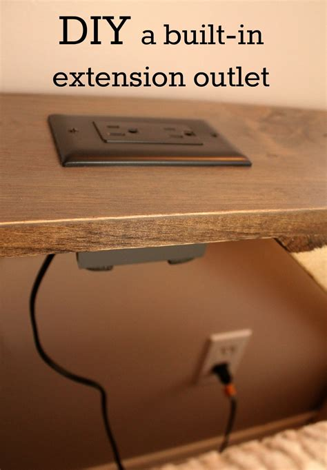 sofa table with outlet we converted a wall outlet into an extension outlet for