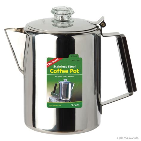 stainless steel coffee pot 9 cup cook grill coghlan s