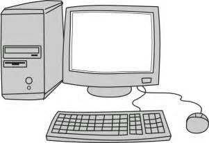 Cartoon Blank Computer Screen