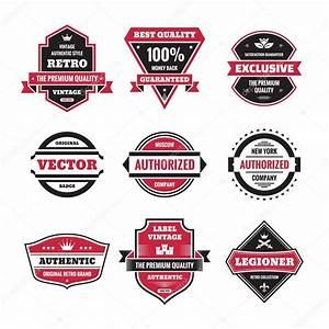 Vector graphic badges collection. Original vintage badges ...