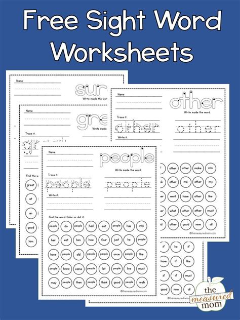 teach sight words sight word worksheets basic