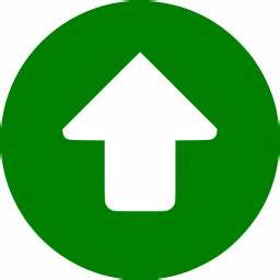 Green up circular icon - Free green arrow icons