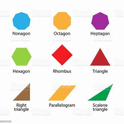 Shapes 2d English Clip Geometric Simple Kindergarten