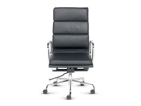 Libra High Back Executive Padded Armchair In Black Leather