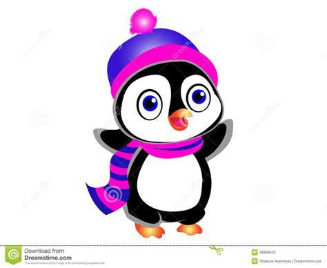 Cute Cartoon Penguin Stock Vector