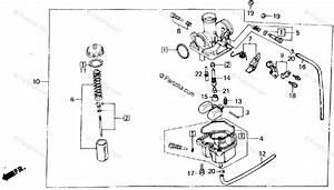 Honda Atv 1986 Oem Parts Diagram For Carburetor