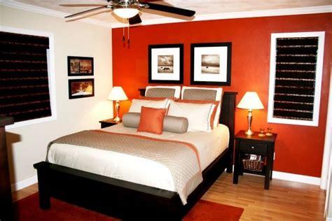 burnt orange accent wall   bedroom loving