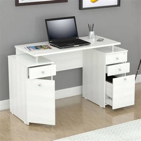 White Writing Desk With Drawers & Storage  Gift Ideas For