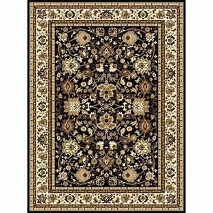 Tapis salon d39orient contemporain 80150 cm noir achat for Tapis oriental avec atlas canapé