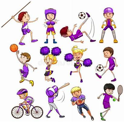 Sports Different Kinds Sport Playing Children Vector