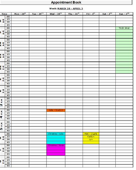 appointment book template 8 best images of appointment template printable printable daily appointment calendar template