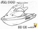 Coloring Jet Boat Pages Ski Printable Doo Sea Water Printables Shrimp Boats Atv Skis Template Yescoloring Coolest Wheeler Craft Watercraft sketch template