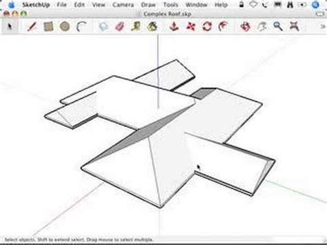 sketchup intersect model roofs youtube