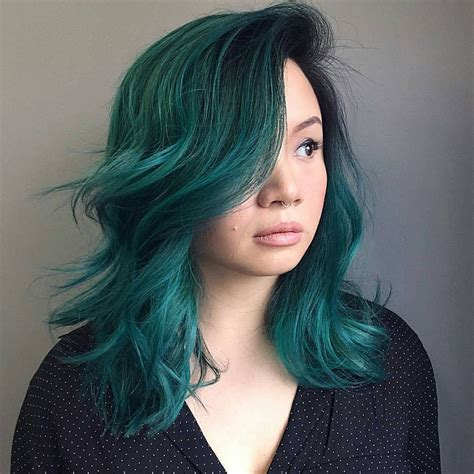 Pin By Joico On Color Intensity Peacock Green Hair