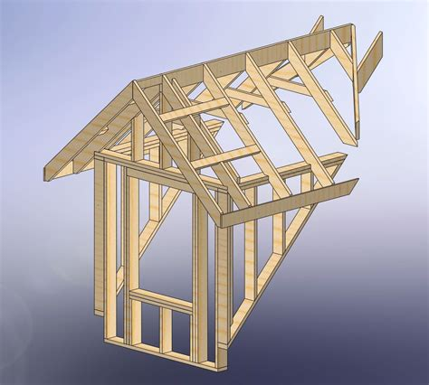Dormer Construction Plans by 48x28 Garage With Attic And Six Dormers Carpentry