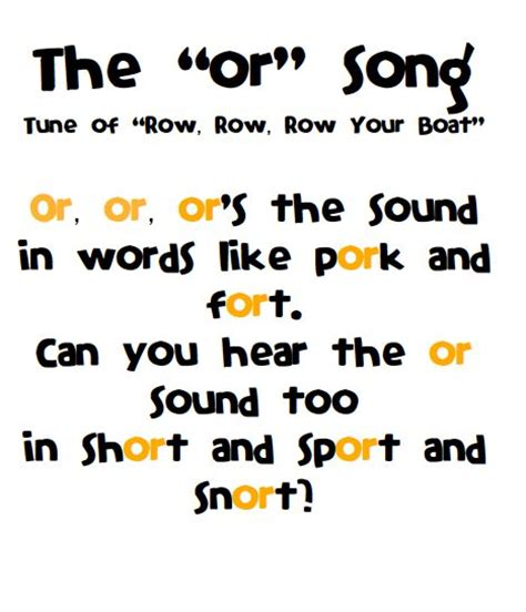 Row Your Boat Second Verse by Or Ore Oar Song Swimming Into Second Songs In The