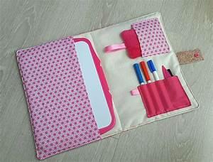 Pochette En Tissu : pochette ardoise en tissu rose origami ecole et loisirs ~ Farleysfitness.com Idées de Décoration