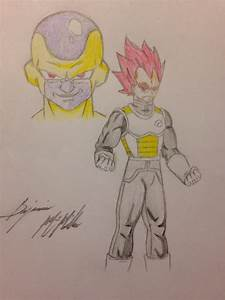 Super Saiyan God Vegeta vs Golden Frieza by SonGozen on ...