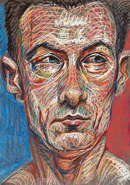 heads portrait art pastel art contemporary