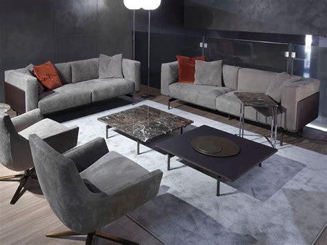 Divano Design Pelle Nabuk Panelli Legno Marrone L-sofa, L-sofa