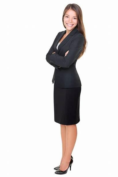 Woman Business Standing Office Clipart Suit Clip