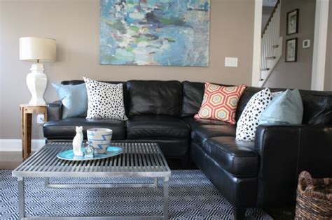 black sofa living room ideas black leather couches decorating ideas decorating