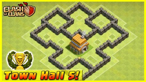clash clans defense level townhall hall base town layout th5 strategy coc trophy clan defensive th bases cool strategies th6
