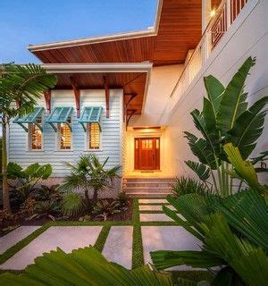 florida landscaping  paver pathway turquoise bahama shutters beach