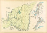 Palmer, Massachusetts 1912 Old Town Map Reprint - Hampden ...
