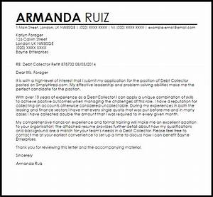 Debt collector cover letter sample livecareer for Debt collection letter templates free