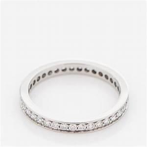 CARTIER Platinum Diamond 24mm Ballerine Wedding Band Ring