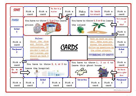 Boardgame/45 Cards Worksheet