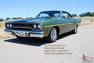 1970 Roadrunner 383 4 Speed Air Grabber Hood Tic Toc Tach
