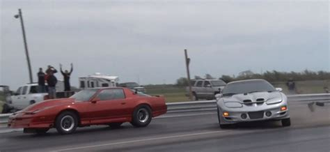 no prep drag racing is it the next big thing rod no preparation drag race pontiac nearly hits the other