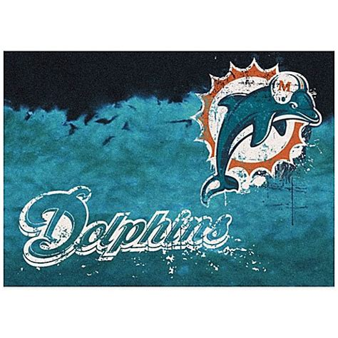 miami dolphins rug buy nfl miami dolphins fade area rug from bed bath beyond